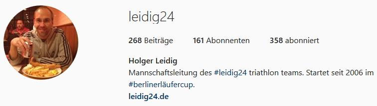 Instagram Profil LEIDIG24